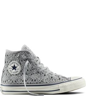 CT AS HI CROCHET SILVER WHT NAVY